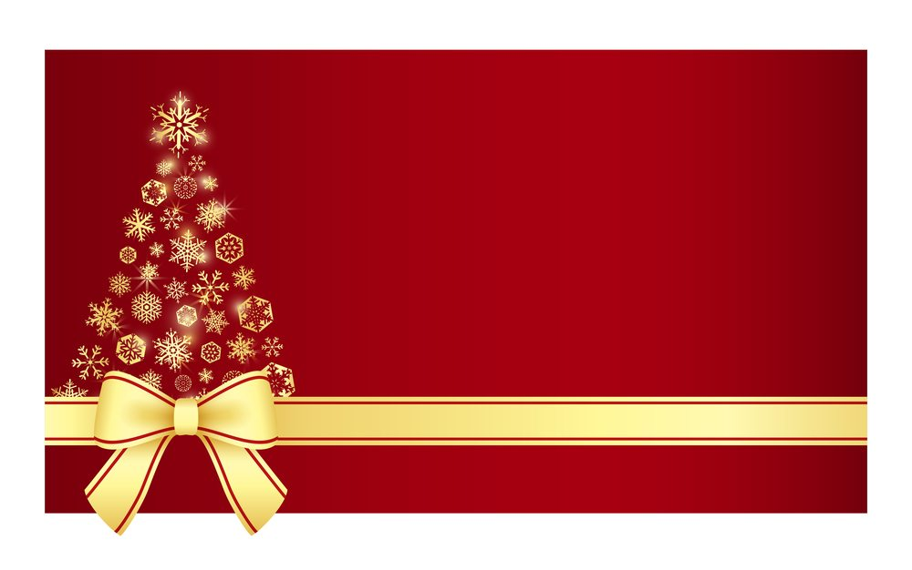 Luxury Christmas Certificate With Christmas Tree Composed From